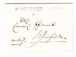 Heimat TG SCHERZINGEN Stabstempel Auf Vorphila Brief  ~1845 - Svizzera