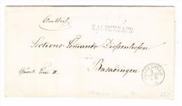 Heimat TG KALTENBACH Stabstempel Frauenfeld 2.9.1863 1-Kreisstempel Auf Vorgedückter Brief Nach Basadingen - 1862-1881 Helvetia Assise (dentelés)