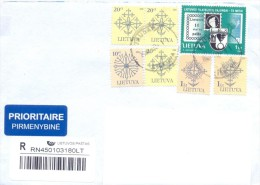 2006. Lithuania, The Letter By Prioritaire Registered Post To Moldova