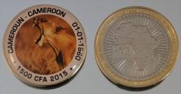 Cameroun 1500 CFA 2015 Bimetal Couleurs Animal - Cameroun