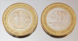 Cameroun 150000 CFA 2003 Biya Monnaie Bimétallique Précieuse Président - Cameroun