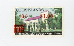 Cook Islands -1967-Eglise-timbre Nr 133***MNH Surchargé - Cookeilanden