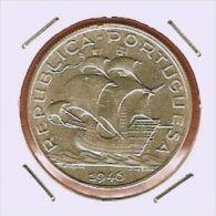 K014 Portugal 5$00 1946 Plata - Portogallo
