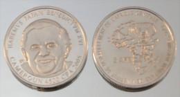 Cameroun 4500 CFA 2005 Argent Pur .999 Pape - Cameroun