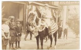 Bellingham Washington State,  Man On Horse Patriotic Theme Steen's Studio B'ham, C1900s/10s Vintage Real Photo Postcard - United States