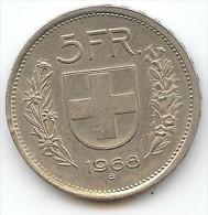 SUISSE - 5 FRANCS 1968 B - Suisse