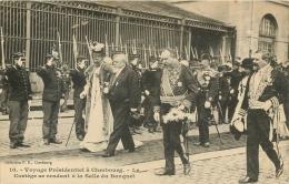 CHERBOURG VOYAGE PRESIDENTIEL CORTEGE SE RENDANT AU BANQUET - Cherbourg