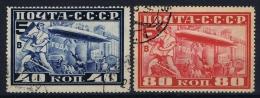 Russia   Mi Nr 390A - 391A Used    1930  Airmail - Gebruikt