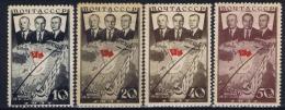 Russia   Mi Nr 595 - 598  MH/*   1938  Airmail