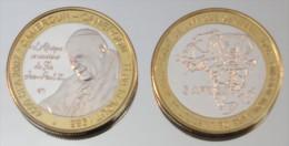 Cameroun 4500 CFA 2007 Monnaie Bimétallique Précieuse Pape - Cameroun
