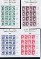 Lithuania Kleinbogen 461 - 464 - Lithuania