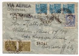 1937 - ENVELOPPE RECOMMANDEE Pour BERLIN - Brazil