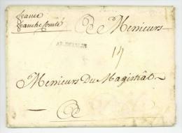 AR. D'ITALIE 1734 Guerre De La Succession De Pologne Pavia Maréchal Duc De Randan Durfort De Lorges - Marcophilie (Lettres)