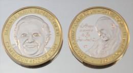 Cameroun 4500 CFA 2007 Mule Jean-Paul II 2005 Monnaie Bimétallique Précieuse Pape - Cameroun