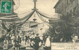69 LYON RHONE  Pontcharra Turdine Congres Rue Animation  Procession - Pontcharra-sur-Turdine