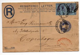 1900 - REGISTERED LETTER De LIVERPOOL Pour COPENHAGEN - Marcofilie