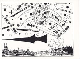 25654 OVNI UFO Soucoupes Volante Extra Terrestre -CP France -gravure XVIe Objets Mysterieux Dans Cieux