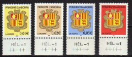Andorra.French Andorra.2002 Coat Of Arms.Mi - 576/579.MNH - Neufs