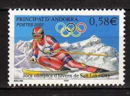 Andorra.French Andorra.2002 Winter Olympic Games - Salt Lake City.Mi - 587.MNH - Neufs