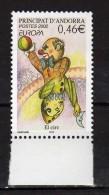 Andorra.French Andorra.2002 Europa Stamp - Circus.Mi - 590.MNH - French Andorra