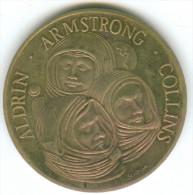 APOLLO 11 ALDRIN ARMSTRONG COLLINS 21 JULY 1989 DIAMETER 3.5 Cm - USA