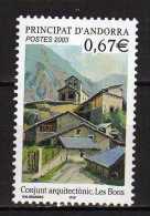 Andorra.French Andorra.2003 Architecture.Mi - 599.MNH - Neufs