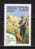 Andorra.French Andorra.2003 Europa Stamp - Poster Art.Mi - 601.MNH - Neufs