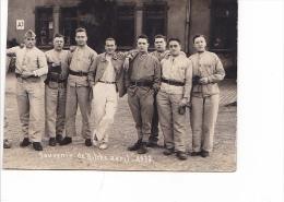 25671 Carte Photo Souvenir De Bitche Avril 1933 -militaire Homme Soldat ! état Coupé !