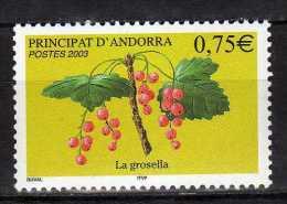 Andorra.French Andorra.2003 Berries.Flora/Fruits.Mi - 605.MNH - Neufs
