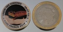 Comores 1100 Francs 2015 Bimetal Couleurs Animal - Comoros
