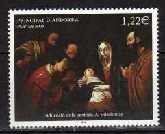 Andorra.French Andorra 2005 Merry Christmas - The Adoration Of The Shepherds.Mi - 640.Navidad.Noel.MNH - Neufs
