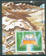 Sharjah 1972 Luna 9 Cosmos Space Bl. S/S Perf MNH - Sharjah