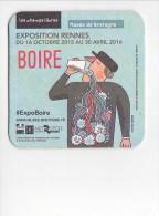 25686 Sous Bocks Carton Biere -exposition Rennes BOIRE Musée Bretagne 2016 - Sous-bocks