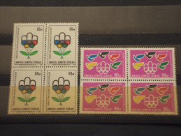 CIPRO TURCO - 1976 MONTREAL 2  Valori, In Quartine(blocks Of Four) - NUOVI(++) - Cipro (Turchia)