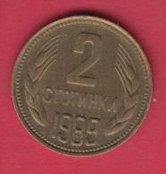 F6525 / - 2 Stotinki - 1989 - Bulgaria Bulgarie Bulgarien Bulgarije - Coins Monnaies Munzen - Bulgaria
