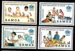 SAMOA 50TH ANNIVERSARY OF UNICEF CHILD WOMAN 1996 SET OF 4 STAMPS MINT SG1004-07 READ DESCRIPTION!! - Samoa