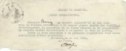 Occupation/Ordre De Réquisition De Véhicule/Burriez/Garennes Sur Eure/1940    OL64 - Unclassified