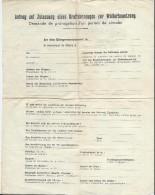 Occupation/ Demande De Prorogation D'un Permis De Circuler/En Français Et Allemand/Formulaire Vierge/1940-45    OL67 - Militaria
