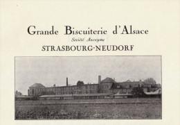 1924 - Iconographie Documentaire - Strasbourg (Bas-Rhin) - Grande Biscuiterie D'Alsace Quartier -  FRANCO DE PORT - Vieux Papiers