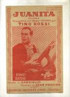 -  JUANITA . PARTITION DE CHANSON DE TINO ROSSI . - Partituras