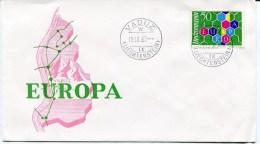 VADUZ Env. Du 19/09/1960 Avec Timbre EUROPA - Liechtenstein