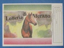 1989 CARTOLINA LOTTERIA MERANO - Biglietti Della Lotteria