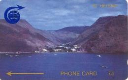 SAINT HELENA 5 P JAMESTOWN HARBOUR SKYLINE 2 GPT CODE:1CSHC CAT No:STH-03 ONLY 4000 MADE !! CV:US45$ READ DESCRIPTION !! - St. Helena Island