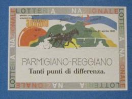 1991 CARTOLINA LOTTERIA AGNANO - Biglietti Della Lotteria