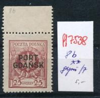 Port Gdansk  Nr. 8 B  **   (ff7538 ) Siehe Scan - Danzig