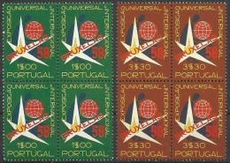 PORTUGAL 1958 MI-NR. 862/63 Viererblocks ** MNH (109) - 1910 - ... Repubblica
