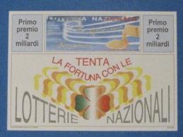 1995 CARTOLINA LOTTERIA SANREMO FESTIVAL CANZONE ITALIANA - Biglietti Della Lotteria