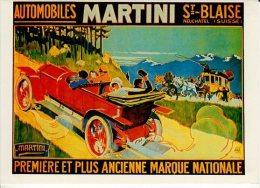 AUTOMOBILES MARTINI ST BLAISE  COLLECTION D AFFICHES DU MUSEE SUISSE DES TRANSPORTS - Reclame
