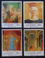 NOËL 1991 - NEUFS ** - YT 849/52 - Uganda (1962-...)