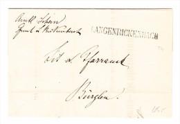 Heimat TG LANGENRICKENBACH Stabstempel Auf Brief 1872 Nach Bürglen - 1862-1881 Helvetia Assise (dentelés)